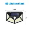 100 LED 검은 껍질