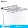Type A - Chrome 8 pouces