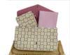 Клетчатый белый + розовый карточный пакет