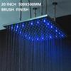 """20"""" 500mm led showerhead brushed finish"""