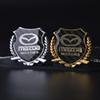 2Pcs Refinement 3D logo Emblem Badge Graphics Decal Car Sticker MAZDA