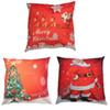 Linen Xmas Pillow Cover Reindeer And Santa Claus Christmas tree Pillow Case comfortable Sofa Car Festival Home Decoration 3 Pattern