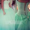 Custom Made 2017 Hot Mint Green Beaded Sweetheart Strapless Tulle Puffy Ball Gown Quinceanera New Crystal Party Prom Dresses For Pageant
