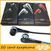 wholesale earbuds mini 50 Cent Earphones SMS Audio Street by 50 Cent Headphone In-Ear headset for Mp3 Mp4 Cell phone tablet
