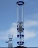 New blue color water pipe three honey comb glass bongs with glass dome and bowl oil rig dabber glass bubbler water pipe
