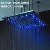"20"" 500mm led showerhead mirror finish"