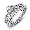 100% S925 ring for Valentine's Day princess crown sterling sliver rings with box