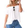 2017 Summer Style Off Shoulder Beach Tops Women Blouses Sexy Slash Neck Solid Elastic Cool Butterfly Short Sleeve Blouses GV666 q171122
