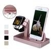 For Apple Watch Charger Docking Station Charging Desktop Cradle Holder Phone Stand for IPX 8 7 Plus 6S 6 5S SE Charger Dock
