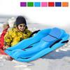 Durable Snow Sled for Kids Adults,Outdoor Grass Skiing, Outdoor Grass Skiing,Snow Grass Sand Board Ski Pad Snowboard With Rope Brake