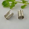 500pcs Rhodium Plated Crimp Cord Ends Cap - Findings Very Large Round Curve Adjustable Fold Over without Loop