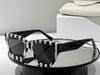 White striped frame grey lens