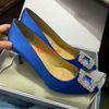 6.5cm 발 뒤꿈치 4 # 블루