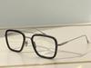 Siyah Gümüş Çerçeve Temizle Lens