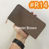 # R14 Damier Brown Zipper
