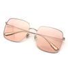 Lente rosa transparente.