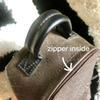 Zipper mini taille à l'intérieur