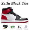 A35 36-46 Satin Black Toe