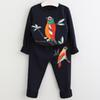navy blue bird