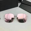 lente de espelho rosa