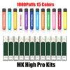 MK High Pro 1000Puffs colori misti