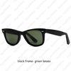 Черные рамки- зеленые линзы