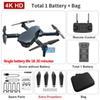 Black 4k Dual Camera + 1800 mA Batterie + Tasche