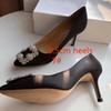 7 # 블랙 9.5cm 발 뒤꿈치