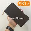 # R13 Brown Flower Zipper