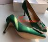 6 # 녹색 9.5cm 발 뒤꿈치