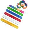 Mixed colors slap bracelet