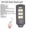 Solar 624 LED Straßenleuchte ohne Pole