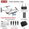 Weiße 4K duale Kamera + 1800 mA Batterie + Tasche