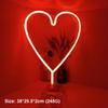 القلب ب - أحمر