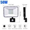 50W PIR 센서 LED 투광 조명