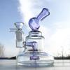 Roxo a + tigela de vidro