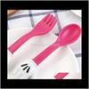 # 2 Juegos de Cuchara Tenedor de Alimentación para Bebé