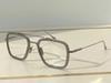 Gri Gümüş Çerçeve Temizle Lens