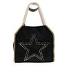 Willow Studs Black Gold Chain