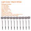 10pcs 5w 따뜻한 흰색