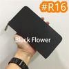 # R16 cerniera fiore nero