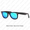 Черные рамки - голубые зеркальные линзы