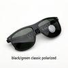 Clássico preto / verde polarizado