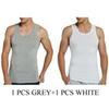 1 pcs cinza e branco