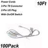 Anahtarlı 10ft 2-pin Güç Kabloları