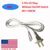 6ft 2 pin US plug without switch
