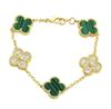 Altın + Yeşil (elmaslarla)