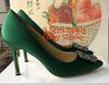 6 # 녹색 회색 돌 9.5cm.