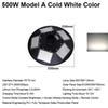 500W Model A Cold White Color