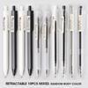 10 canetas retrátil-Black